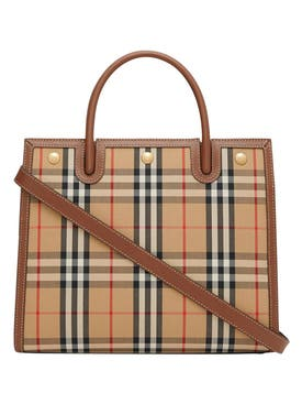 Burberry - Mini Two-handle Title Bag, Vintage Check - Women