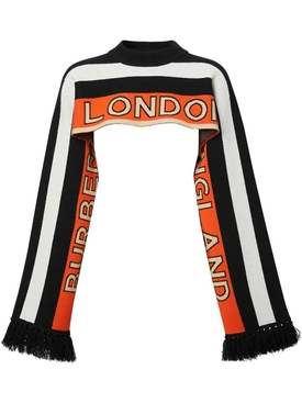 Multicolored logo capelet