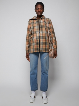 Iconic plaid print windbreaker jacket