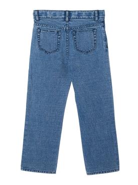 Kids logo print blue jeans