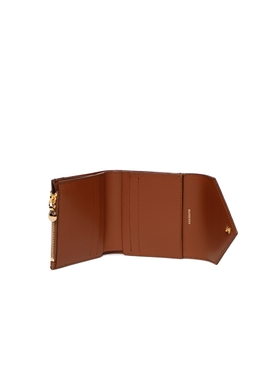 Check Print and Leather Folding Wallet