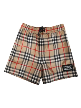 Kids Vintage Check Swim Shorts