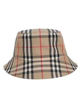 Archive Beige Checkered Bucket Hat
