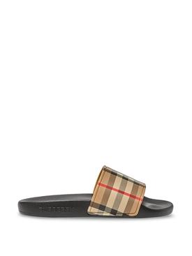 Kids slide sandals archive beige