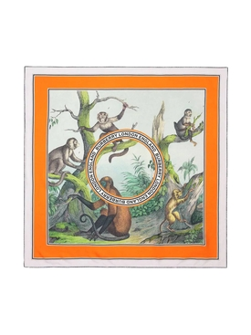 Monkey Illustration Square Scarf