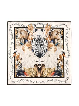 Burberry - Animal Portrait Silk Scarf - Women
