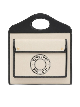 Black and Neutral Medium Pocket Bag
