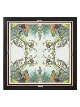 Silk Monkey Print Scarf