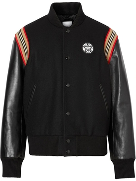 Icon Stripe Letterman Jacket