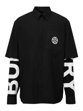 Black and white double shirt