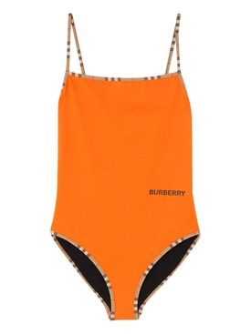 Orange one-piece swimsuit