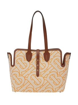 Medium belt logo tote