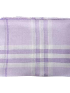 Lilac plaid print scarf
