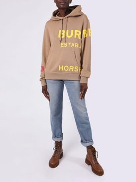 Beige Horseferry logo hoodie