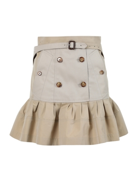 Khaki flared skirt
