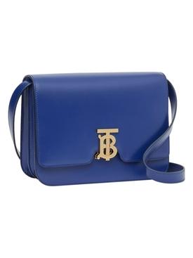 Medium Leather TB Bag, Ink Navy