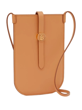 Leather Phone Case with Strap, Warm Sand