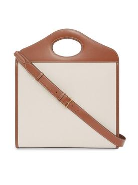 Medium two-tone pocket bag