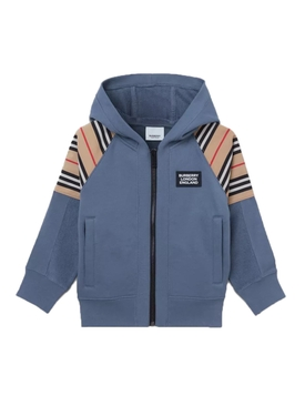 Kids Blue zip-up sweater