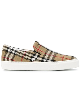 Thompson check print slip-on sneaker