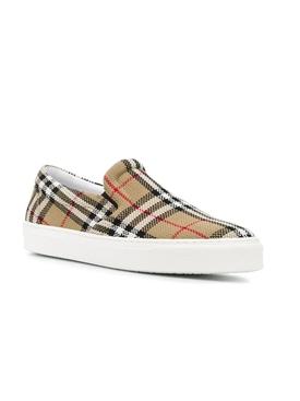 Thompson check print slip-on sneaker
