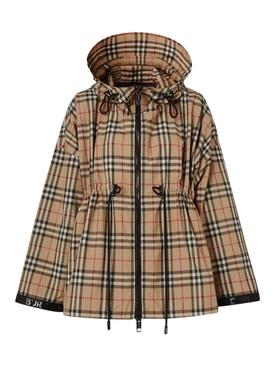 Beige Check print jacket