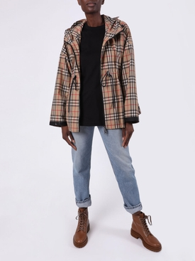 Beige Check print jacket