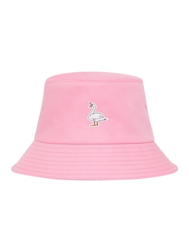 BUBBLEGUM PINK SWAN BUCKET HAT