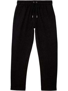 Pinstripe track pants