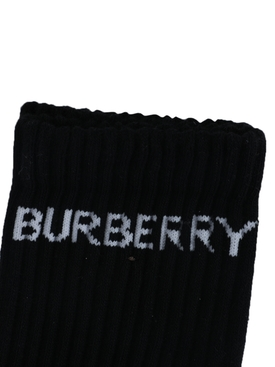 Black and white logo sport socks