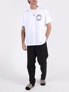 White Logo Graphic Oversized Cotton T-shirt