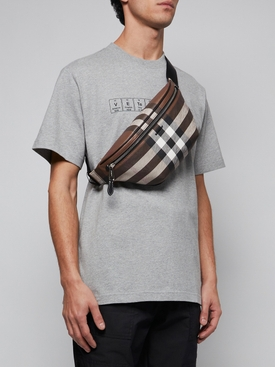 DARK BIRCH BROWN CHECK PRINT BUM BAG