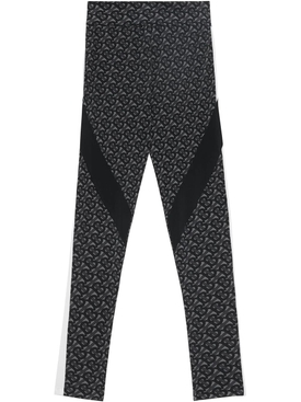 Graphite Logo Print Leggings