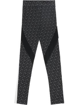 Graphite Logo Print Leggings