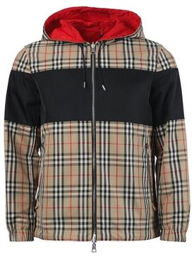 Reversible Check Print Jacket