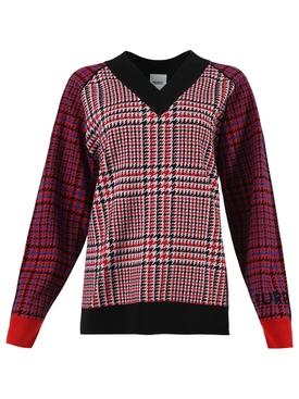 Red plaid print jumper