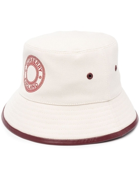 Leather Trim Bucket Hat