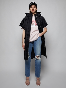 Iconic Horseferry hooded cape, black