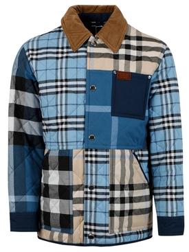 Archive Check Print Jacket, Blue