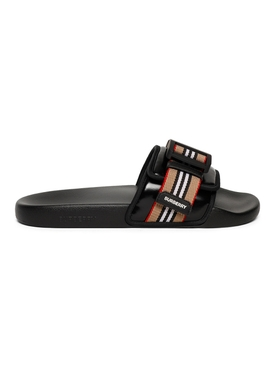 Cameron Icon Stripe Buckle Slide Sandal