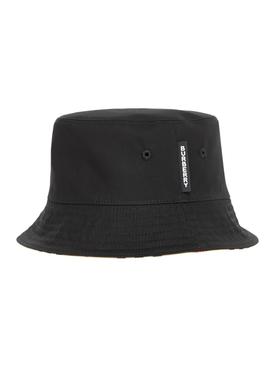 Archive Stripe Print Bucket Hat, beige