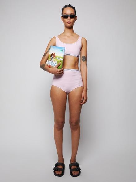 Burberry Linings Orchid Pink Logo Tape Bikini