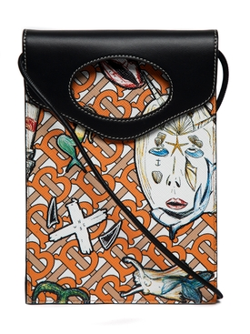 Marine sketch micro pocket bag, orange