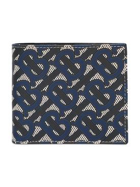 Monogram Print  International Billfold Wallet, Blue