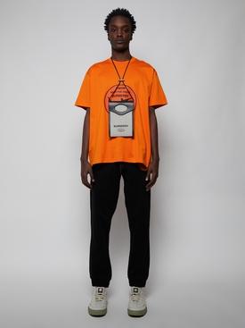 Oversized Shark Graphic T-shirt, Orange
