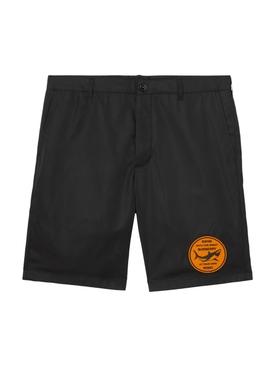 Shark Patch Nylon Shorts, Black