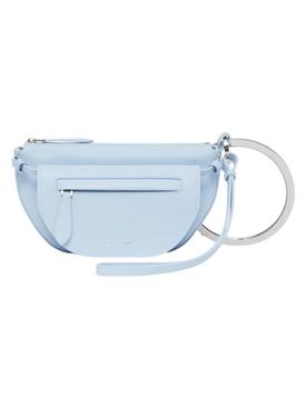 Mini double Olympia handbag, pale blue