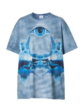 Shark Print T-shirt, Ink Blue