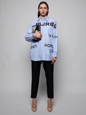 Long-sleeve button down shirt, pale blue