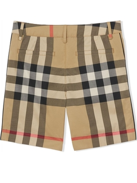 Kid's checkered shorts archive beige
